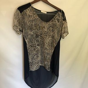 lush Transparent Blouse Size Small